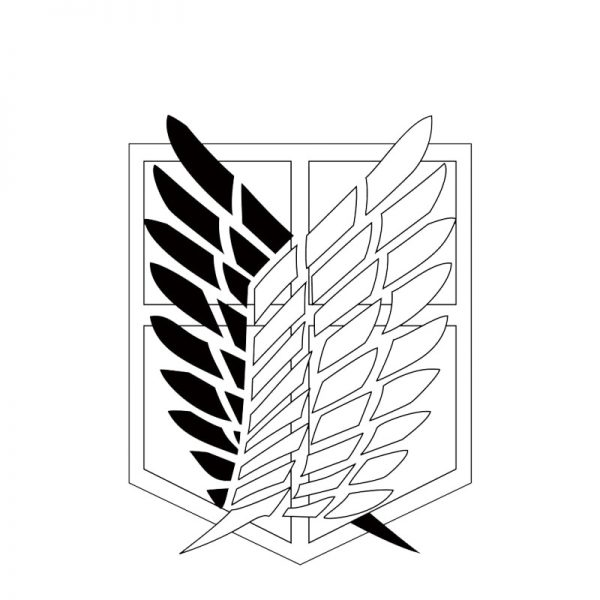 Attack on titan Wings of Liberty Cosplay Props Waterproof Animation Cartoon Logo Temporary Tattoo Stickers XR062 3 - Attack On Titan Store