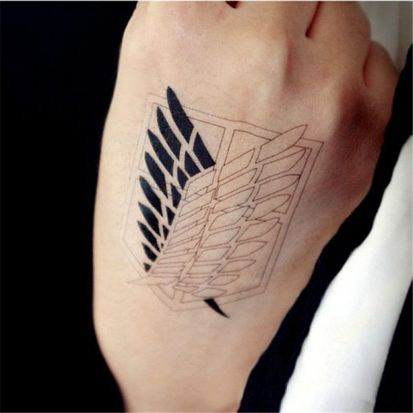 Attack on titan Wings of Liberty Cosplay Props Waterproof Animation Cartoon Logo Temporary Tattoo Stickers XR062 - Attack On Titan Store