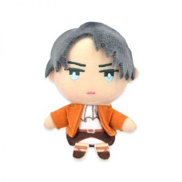 Cosplay Anime 10cm Attack on Titan Levi Erwin Cute Plush Finger Puppets Cover Stuffed Toys Doll 3 - Attack On Titan Store