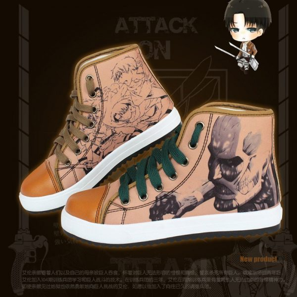 High Q Unisex Anime Cosplay Attack on Titan Fans Eren Mikasa Ackerman Casual Student Shoes Cosplay - Attack On Titan Store