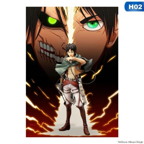 High Quality Home Room Art Print Wall Stickers Vintage Japanese Posters Anime Attack on Titan Retro 1.jpg 640x640 1 - Attack On Titan Store