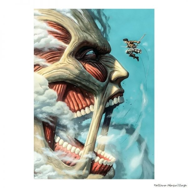 High Quality Home Room Art Print Wall Stickers Vintage Japanese Posters Anime Attack on Titan Retro - Attack On Titan Store