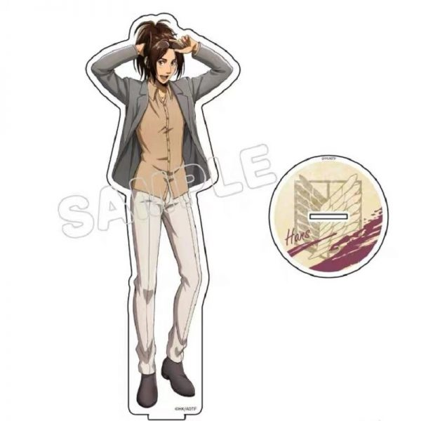 Hot Anime Attack on Titan Erwin Smith Acrylic Keychains Stand Display Model Plate Birthday Cake Decor 4 - Attack On Titan Store