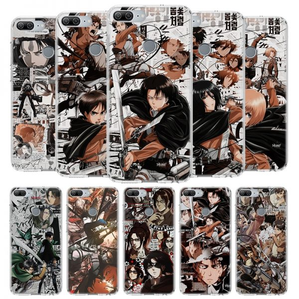 Hot Attack on Titan Manga Cover Phone Case for Huawei Y9 Y5 Y6 Y7 2019 Honor - Attack On Titan Store