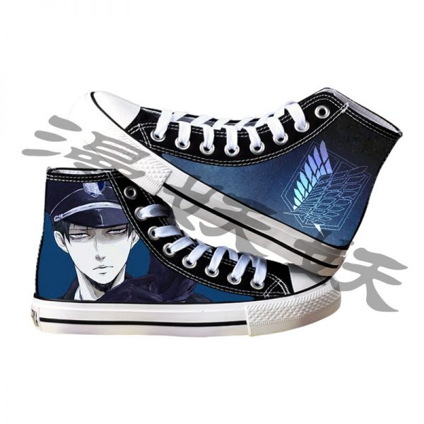 Japanese Anime Attack on Titan Cosplay Casual High Platform Shoes Shingeki No Kyojin Canvas Shoes For 6 - Attack On Titan Store