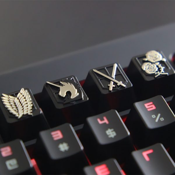 KeyStone Keycap Anime Attack on Titan Zinc aluminum mechanical keyboard keycap for personalization for Cherry MX - Attack On Titan Store