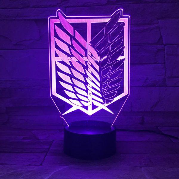 LED Logo Children Kids Boys Gift Bedroom Desk Lamp Night Light Anime Attack on Titan Manga - Attack On Titan Store