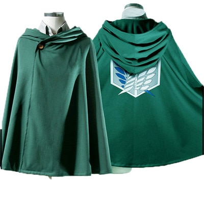 On Sale Anime Attack on Titan Cloak Shingeki no Kyojin Scouting Legion Aren Levi Capes Cosplay 1 - Attack On Titan Store