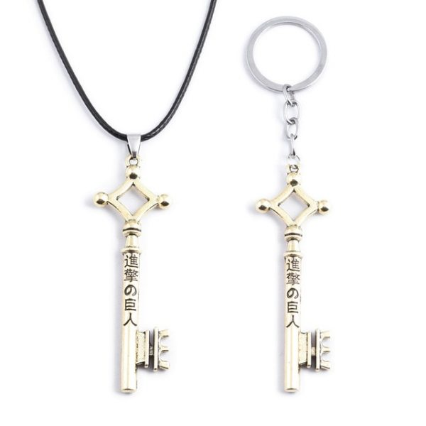 RJ Wholesale 20Pcs Attack On Titan Necklaces Wings of Liberty Scouting Legion Cosplay Eren Key Pendant 4.jpg 640x640 4 - Attack On Titan Store