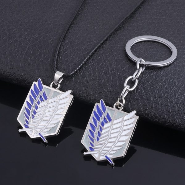 RJ Wholesale 20Pcs Attack On Titan Necklaces Wings of Liberty Scouting Legion Cosplay Eren Key Pendant 5.jpg 640x640 5 - Attack On Titan Store