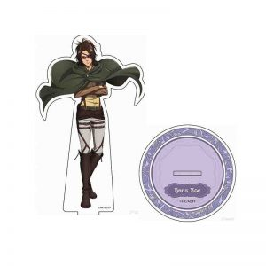 Hot Anime Attack on Titan Erwin Smith Acrylic Keychains Stand Display Model Plate Birthday Cake Decor Toy Cosplay Student Gift